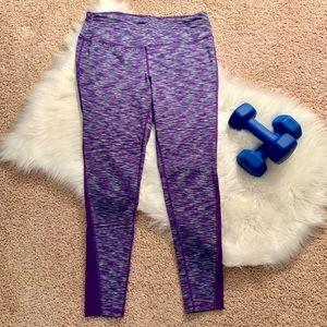 LIVI Active Purple Space Dye Compression Leggings